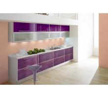 Кухонный гарнитур Хамелеон, цвет - фиолетовый, серый, красный, стиль - современный